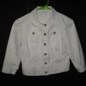 ANN TAYLOR LOFT WHITE DENIM JACKET - SIZE 00P